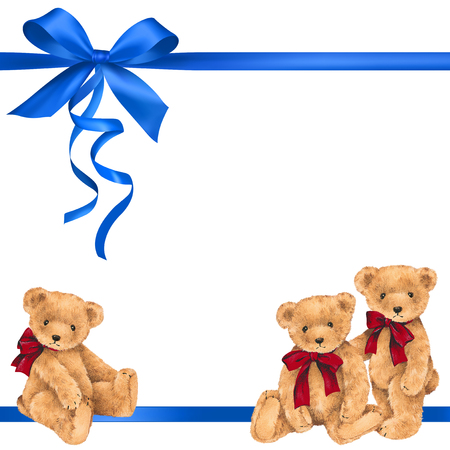 Bear ribbon decoration Foto de archivo