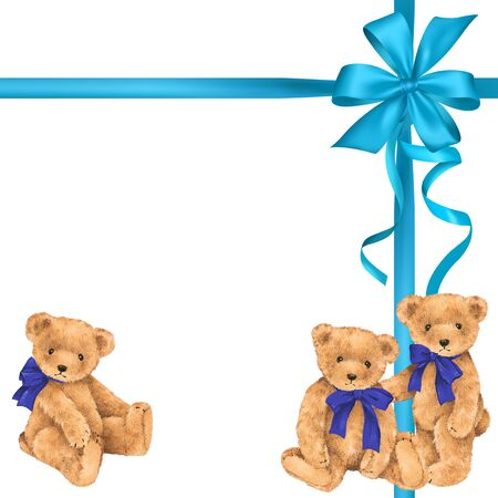 packing material: Illustration of bear and ribbon