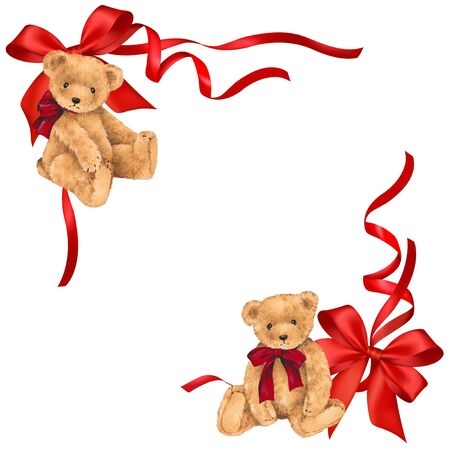 amabilidad: Ilustración de oso y la cinta