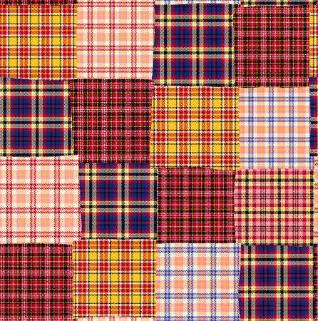 likely: Tartan check patchwork