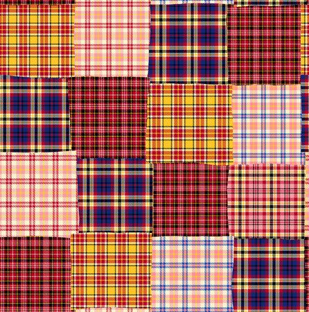 it is interesting: Tartan check patchwork