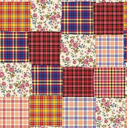 Tartan check patchwork