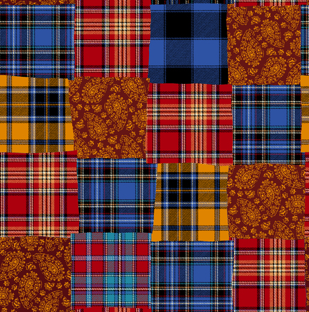 miscellaneous goods: Tartan check patchwork