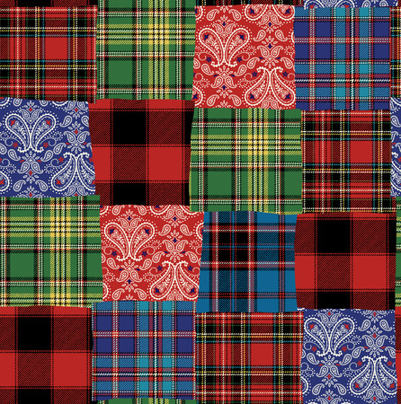 it is interesting: Tartan check patchwork