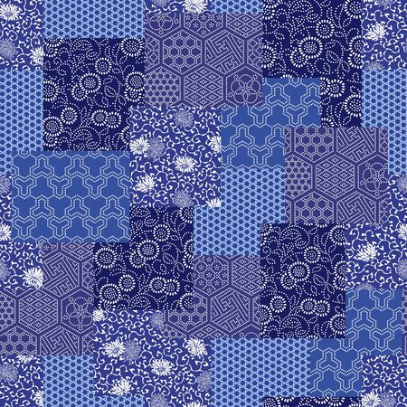 quilted fabric: Japanese style pattern patchwork