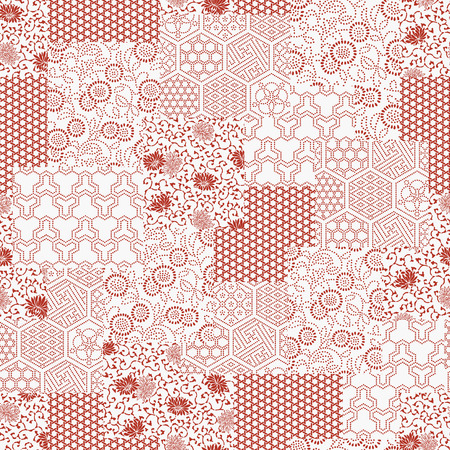 patchwork pattern: Japanese style pattern patchwork