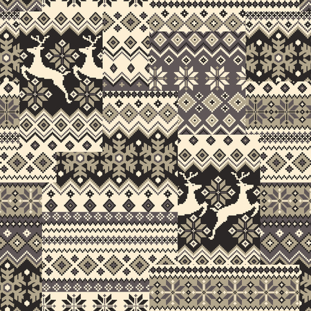 patching: Nordic tradition pattern Illustration