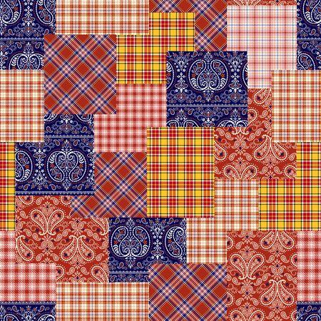 patching: Tartan check patchwork