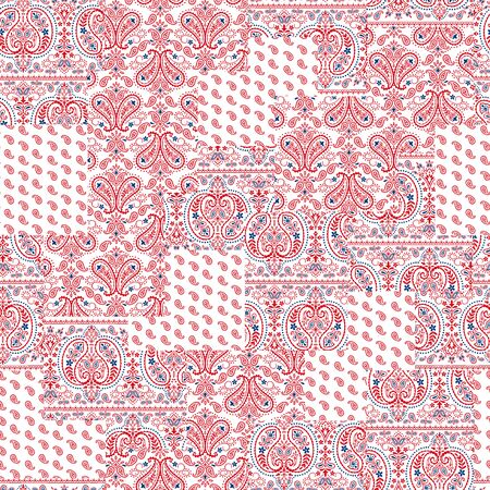quilted fabric: Bandanna design Stock Photo