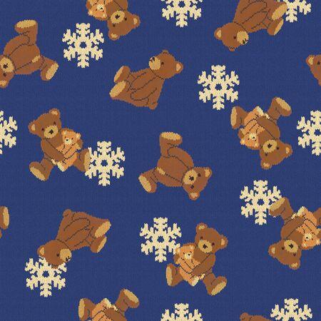 Bear illustration pattern Foto de archivo