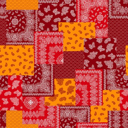 quilted fabric: Bandana pattern design Illustration