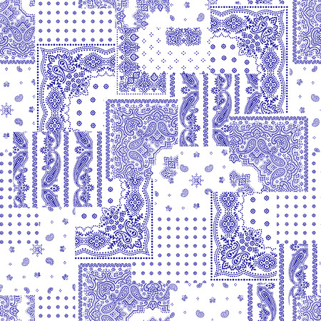textile fabrics: Bandana pattern design Illustration