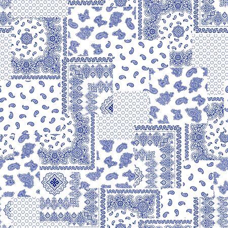 Bandana pattern design  イラスト・ベクター素材