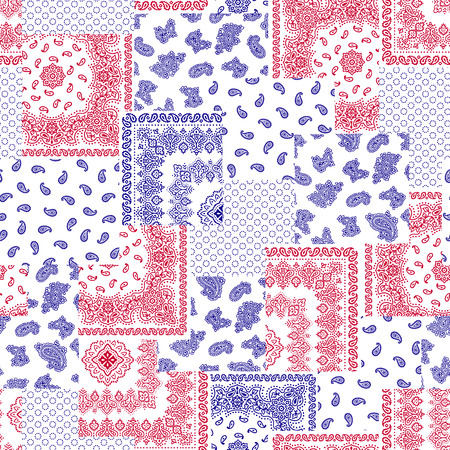 quilted fabric: Bandanna illustration design