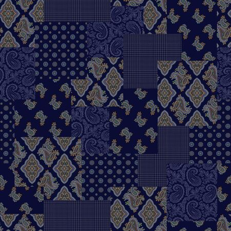 miscellaneous goods: Paisley illustration patchwork
