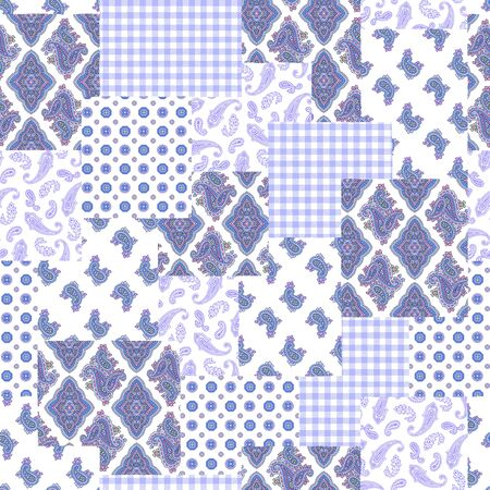 patchwork: Paisley illustration patchwork