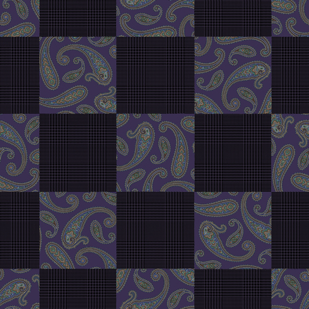 miscellaneous goods: Paisley illustration patchwork