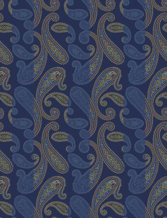 patching: Paisley illustration patchwork