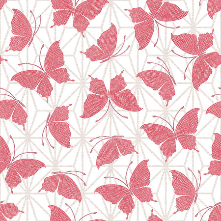repeating background: Japanese butterfly pattern
