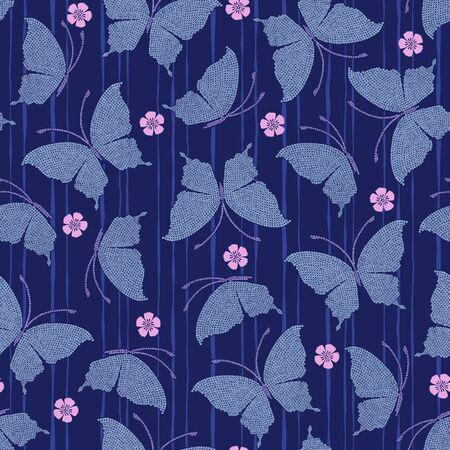 yukata: Japanese butterfly pattern