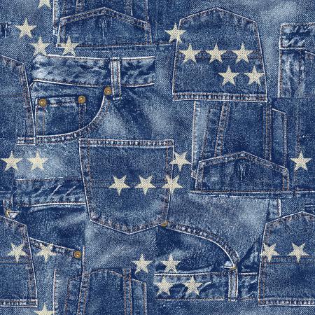 patchwork: Denim material patchwork