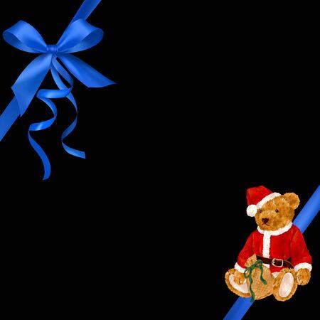packing tape: Santa Claus bear ribbon frame