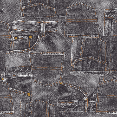 wrinkly: Denim material patchwork