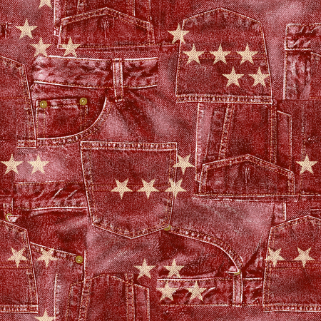 out of use: Denim material patchwork