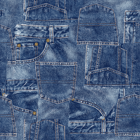 Denim material patchwork