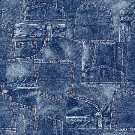 Denim material patchwork