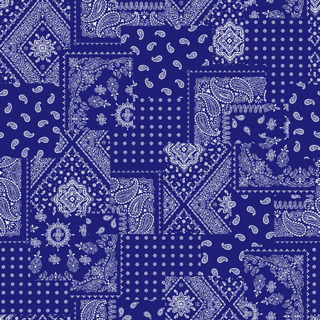fabric art: Bandanna pattern design Illustration
