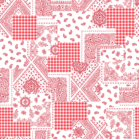 quilted fabric: Bandanna pattern design Illustration