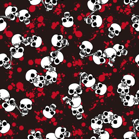 rebellious: Skull paint pattern,