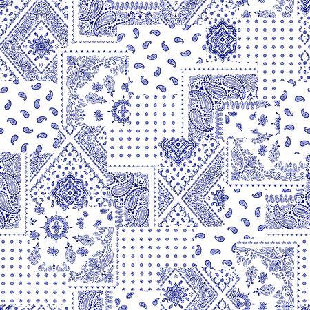 antique wallpaper: Bandanna pattern design Illustration