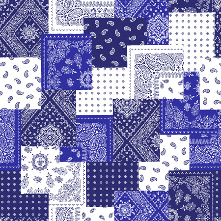 Bandanna pattern design Иллюстрация