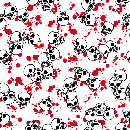 rebellious: Skull paint pattern,