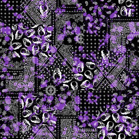 bandanna: Skull Paint Bandanna pattern