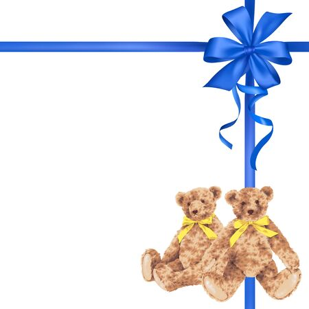 amiability: Bear ribbon decoration Stock Photo
