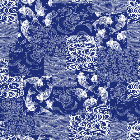 printed work: Japanese style pattern patchwork