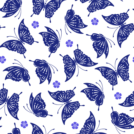dyeing: Japanese butterfly pattern