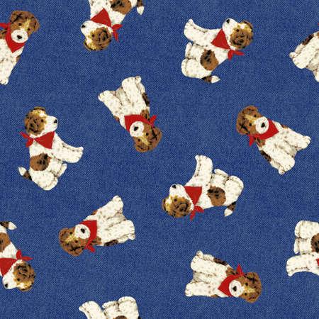 amiability: Pretty dog pattern Stock Photo