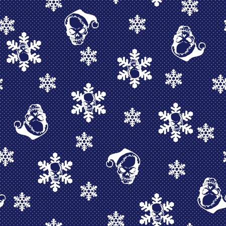immoral: Skull and snow pattern,