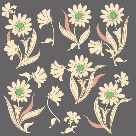 simplification: Flower illustration object Illustration