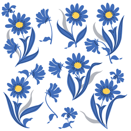 casual fashion: Flower illustration object Illustration