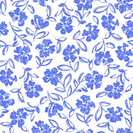 resplendent: Flower illustration pattern
