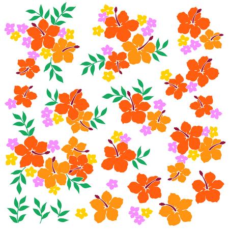 Hibiscus flower illustration Векторная Иллюстрация