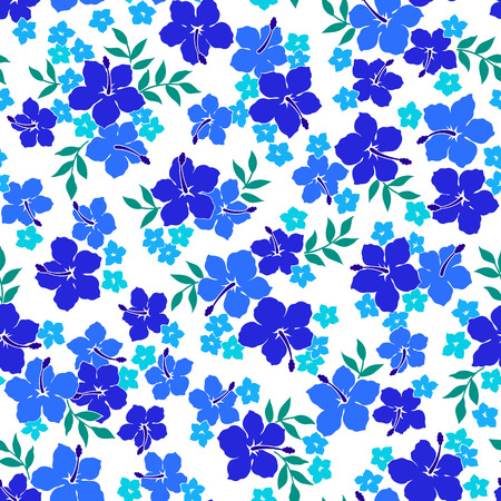 tahiti: Hibiscus flower pattern