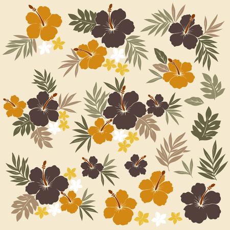 simplification: Hibiscus flower illustration