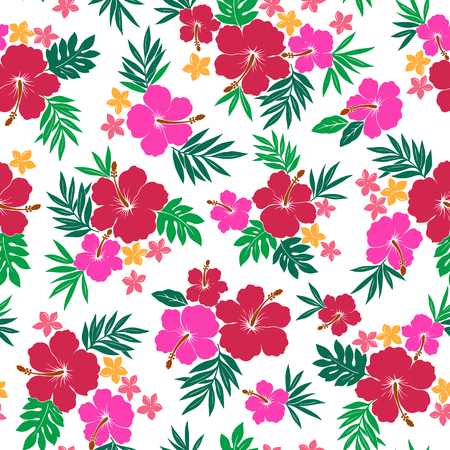 vigorous: Hibiscus flower pattern