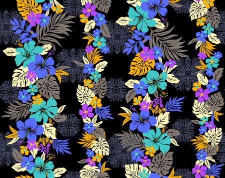 Hibiscus flower pattern Vetores